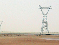 Manantalie Energy board (SOGEM), Mauritanie<br/>High voltage transmission line